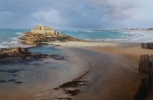Saint Malo-atardecer | Pintura de Carmen Nieto | Compra arte en Flecha.es