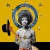 Jimi Hendrix   Collage de Gabriel Aranguren   Compra arte en Flecha.es