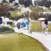 Japanesse garden   Pintura de Saracho   Compra arte en Flecha.es