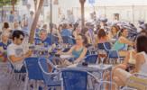 Terraza en azules | Pintura de Jose Belloso | Compra arte en Flecha.es