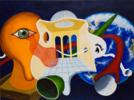 Te estamos observando   Pintura de ANDRES ACEVEDO MANSO   Compra arte en Flecha.es