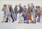 Cuerda de turistas | Pintura de JESÚS MANUEL MORENO | Compra arte en Flecha.es