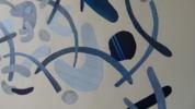 Mapografia indigo | Collage de Fabiana Zapata | Compra arte en Flecha.es