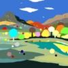 Paisaje con río | Dibujo de ALEJOS | Compra arte en Flecha.es