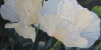 """Dos flores blancas""   Pintura de Carmen Varela   Compra arte en Flecha.es"