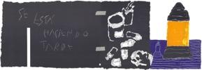 Se está haciendo tarde   Dibujo de Alberto Corazón   Compra arte en Flecha.es