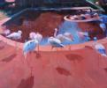Flamencos | Pintura de Carmen Montero | Compra arte en Flecha.es