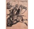 El Testamento de Don Quijote (VIII)   Dibujo de François Marechal   Compra arte en Flecha.es