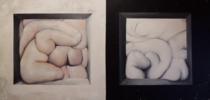 Sólidos y Blandos. Blanco y Negro | Pintura de Víctor Bayonas | Compra arte en Flecha.es