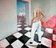 Del hombre misterioso que supo caber dentro de un rubí.   Pintura de Juan Mateo Cabrera   Compra arte en Flecha.es
