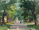 In the park | Pintura de Afanasiev Vladimir Illich | Compra arte en Flecha.es