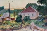 House in Petrovka | Pintura de Simakov Ernest Iosifovich Moldovian | Compra arte en Flecha.es