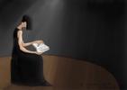 Mujer leyendo | Digital de Lola Barcia Albacar | Compra arte en Flecha.es
