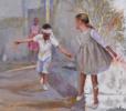 Jugando a la gallina ciega | Collage de Celestino Mesa | Compra arte en Flecha.es