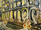 Ciudad en movimiento   Pintura de RICHARD MARTIN   Compra arte en Flecha.es