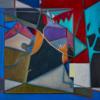 Two Birds on a Wire | Pintura de Helena Revuelta | Compra arte en Flecha.es