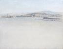 Puerto de Málaga | Pintura de José Luis Romero | Compra arte en Flecha.es
