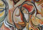 Un peto al odi - Besando al odio - curvisme 409 | Pintura de RICHARD MARTIN | Compra arte en Flecha.es