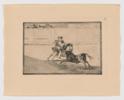 La Tauromaquia. Un caballero español en plaza quebrando rejoncillos sin auxilio de los chulos (Estampa 13) | Obra gráfica de Francisco de Goya y Lucientes | Compra arte en Flecha.es