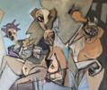 Fiesta de disfraces | Pintura de Oscar Leonor | Compra arte en Flecha.es