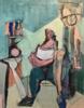 Hombre aferrado a una almohada | Pintura de Oscar Leonor | Compra arte en Flecha.es