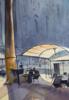 MILANO DUOMO. URBAN LANDSCAPE WITH LIGHT, SHADOW AND EMPTY TERRACE. BIG FORMAT WATERCOLOR URBAN LANDSCAPE MEDITERRANEAN ITALY SEA BRIGHT ARCHITECTURE OLD TRAVEL MILAN CATHEDRAL COFFEE MODERN IMPRESSIONISM | Dibujo de Sasha Romm Art | Compra arte en Flecha.es