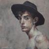 Muchacho con sombrero II   Pintura de Gonzho   Compra arte en Flecha.es