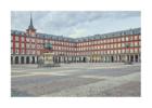 La plaza Mayor - Mas sola que nunca debido a la pandemia de la COVID-19 | Digital de Iván Abanades Medina | Compra arte en Flecha.es