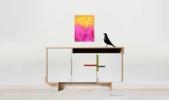 Pink against yellow   Pintura de Luis Medina   Compra arte en Flecha.es