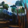 """""""Bosque Azul"""" serie Bosques   Pintura de Carolina Veramendi B   Compra arte en Flecha.es"""